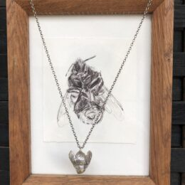Framed Bumblebee Drawing and Pendant