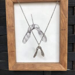 Framed Sycamore Drawing and Pendant from front